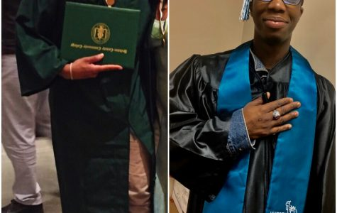 Before and After of HCCC's Cap and Gown